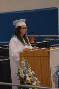 After what felt like an eternity I stood up in front of over a thousand some people, even more watching online, I performed my graduation speech.