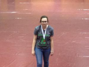 One of my goals all of high school was to earn a medal at the regional Science Olympiad competition and finally my senior year along with my test partner Amy we earned third place in Dynamic Planet, an event based around glaciers.