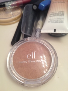 This is the bronzer I use, again it is an elf product. I'm also not a huge fan of this bronzer, it does it's job, but it's also super shimmery and I would like something a little toned down next time.