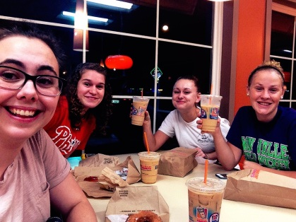 Last night started with a little trip to Dunkin Donuts before the Walmart adventure began.