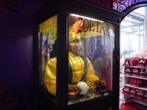 We used the Zoltar machine at the toy store and got a fortune! Mine was about feeling old and time, I'm not sure how it fits into my life, and I'm not sure if it does.