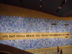 This is at the 9/11 Memorial. I think for me it was more upsetting than the number of Holocaust museums I've been to just because I was alive. I can remember details of that day.