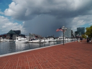 It looked like a storm was coming in, but just look at this picture. That's so cool! Anyway it never rained.