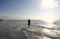 gabby in ocean